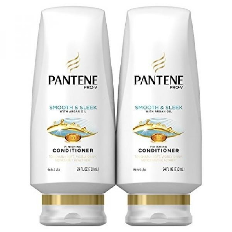 Buy Pantene Pro-V Smooth and Sleek Conditioner, 24 Fluid Ounces - With Argan Oil - intl Singapore