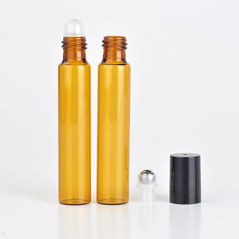 Buy Plastic Amber Roll Glass Bottles Roller Metal Ball Perfume Essential Oil - intl Singapore