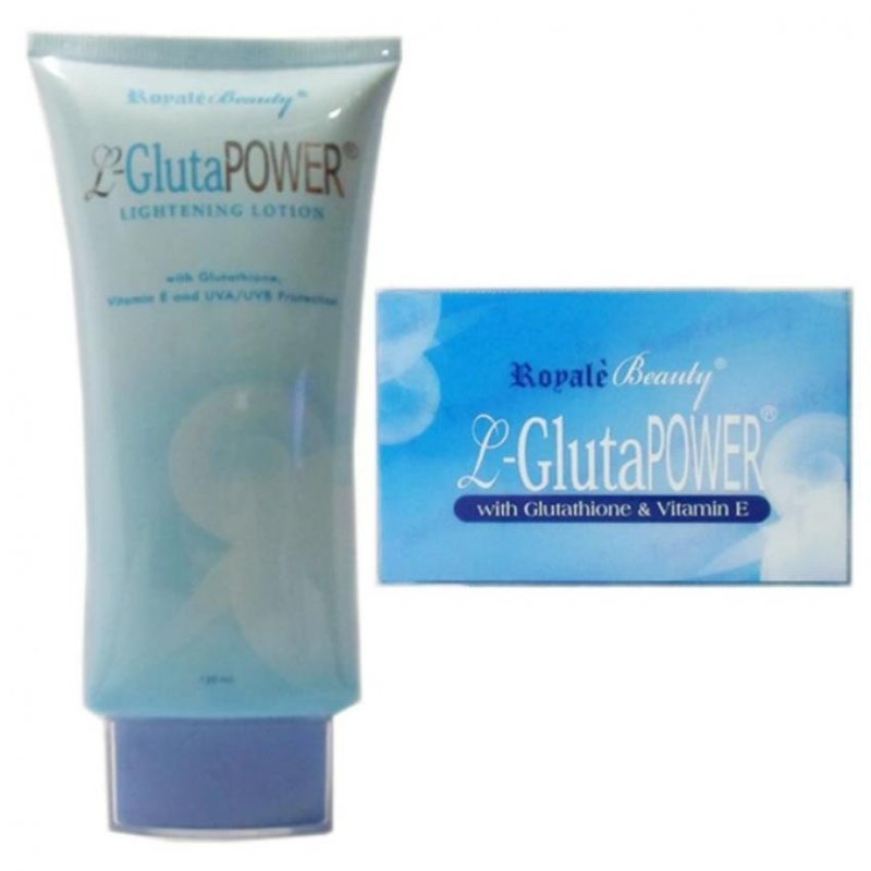 Buy Royale Beauty Body Whitening Soap & Lotion with Glutathione, Vitamin E and UV Protection (Value Set) Singapore