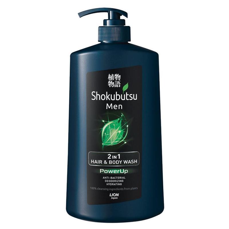 Buy Shokubutsu Men 2-In-1 Hair & Body Wash 850Ml (Powerup) Singapore