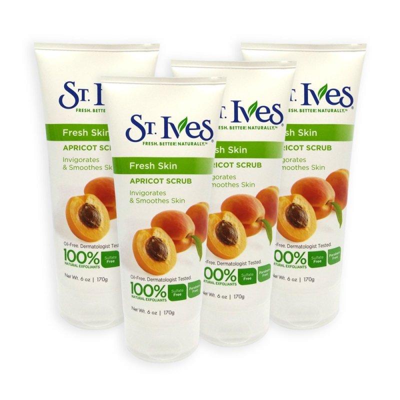 Buy St Ives Invigorates and Smoothes Skin Apricot Facial Scrub 170g x 4 Tubes - 3609 Singapore