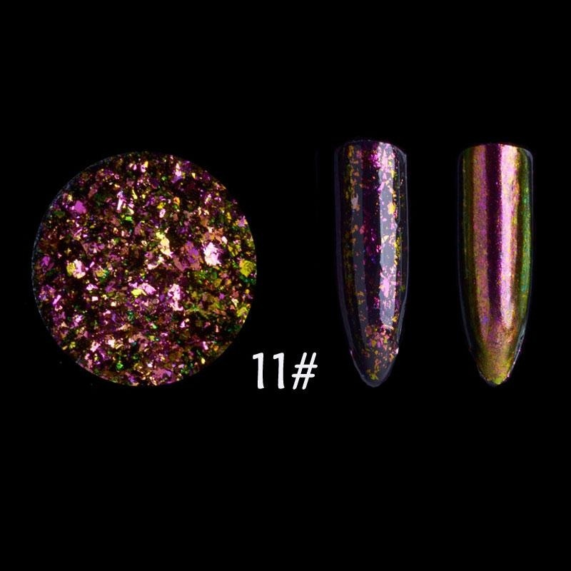 Buy Starry Sky Magic Mirror Powder Nail Art Sparkly Glitter Super Thin Sequins Tips - intl Singapore