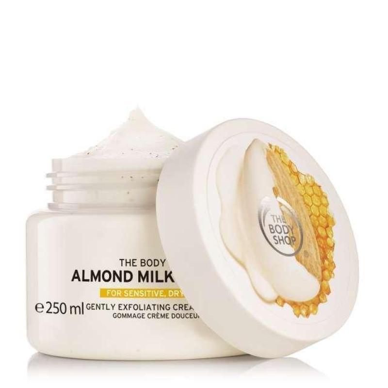 Buy The Body Shop Almond Milk & Honey Gently Exfoliating Cream Scrub (250ML) Singapore
