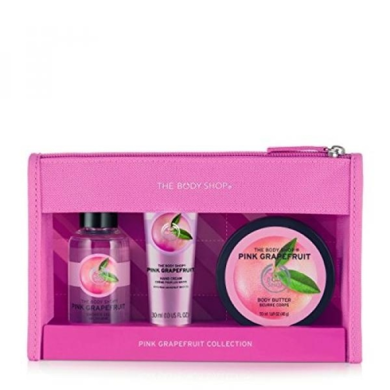 Buy The Body Shop Pink Grapefruit Beauty Bag Gift Set, 3pc Bath and Body Gift Set of Travel Size Pink Grapefruit Body Care - intl Singapore