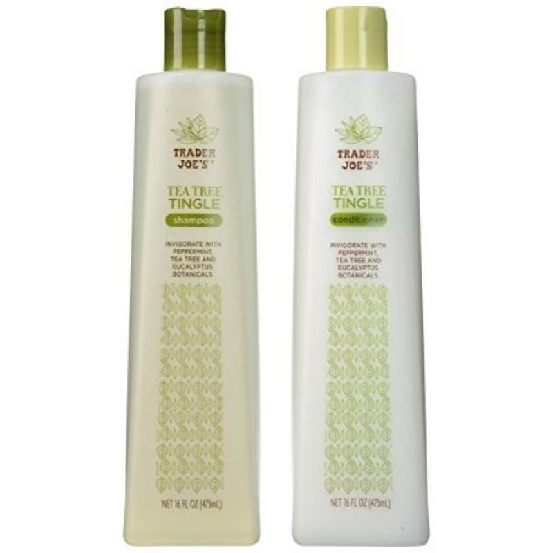 Buy Trader Joes Tea Tree Tingle Shampoo & Conditioner, 16 oz. - intl Singapore
