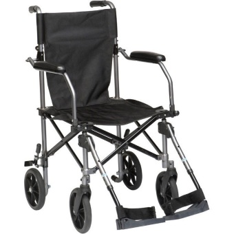 Travelite Lightweight Portable Foldable Transport Wheelchair withBag