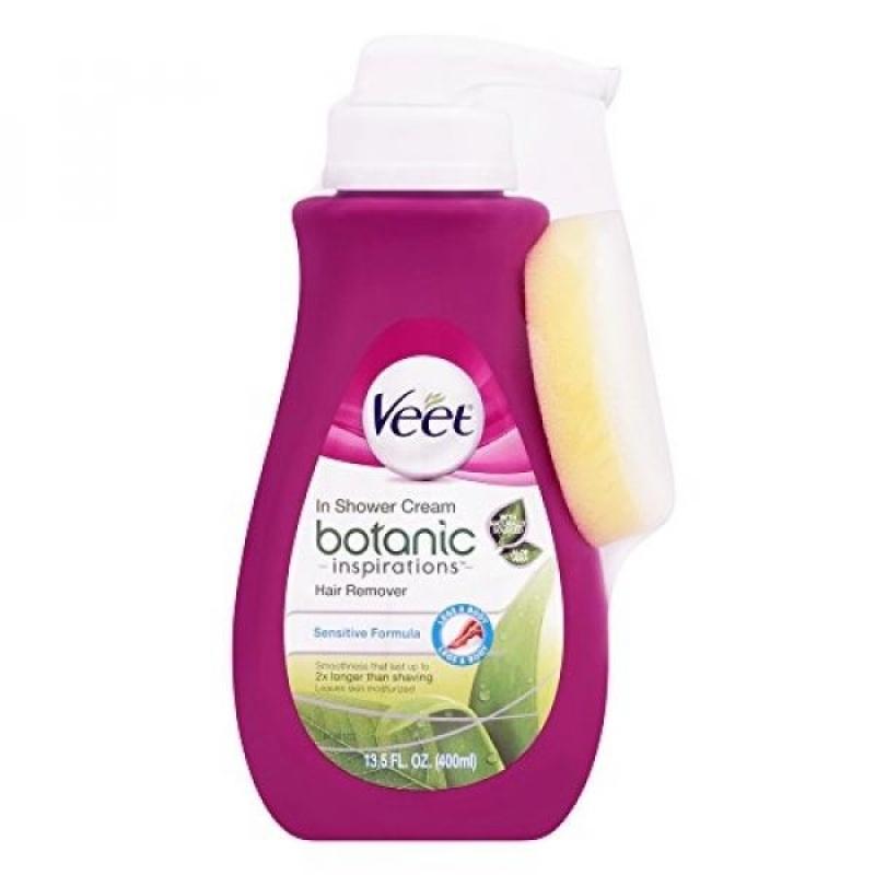 Buy Veet Botanic Inspirations In Shower Cream, 13.5 fl Oz., for Bikini, Underarm, Face - intl Singapore