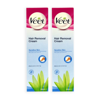 Veet Hair Removal Cream for Sensitive Skin 200ml x 2 tubes - 0169