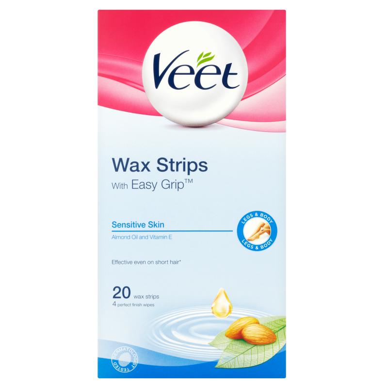 Buy Veet Wax Strip Sensitive 20's Singapore