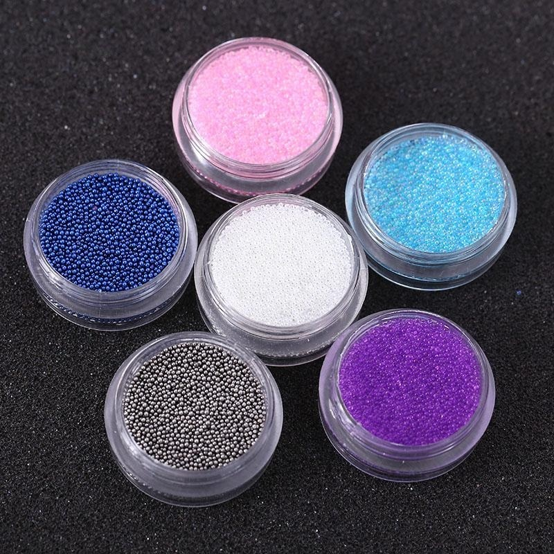 Buy Women Glitter Gems Bead Powder UV Nail Art 3D DIY Tips Decoration Manicure Set - intl Singapore