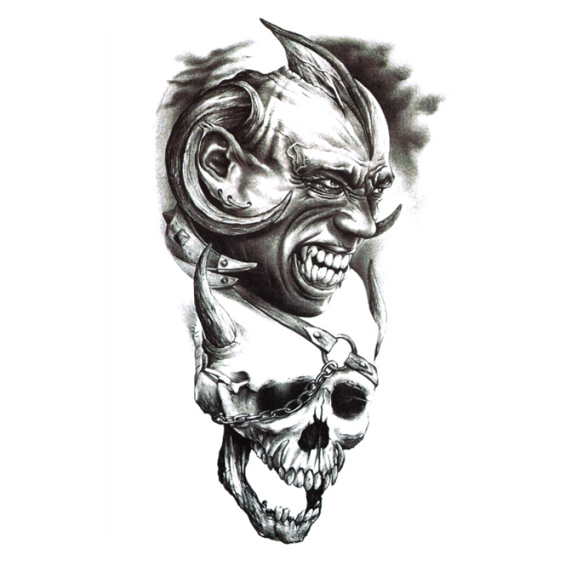 Buy Yika Removable Waterproof Skull Temporary Body Arm Tattoo Stickers (A071) Singapore