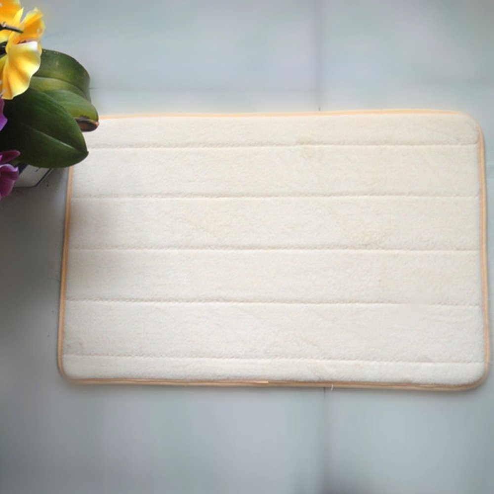 40*60cm Rectangle Shaped Soft Memory Foam Non-slip Bath Mat Kitchen ...