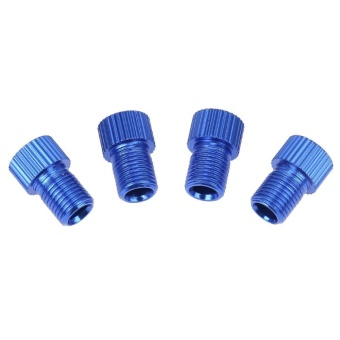 4pcs Presta to Shrader Bicycle Road Bike Valve Adapters Converters(Blue) - intl