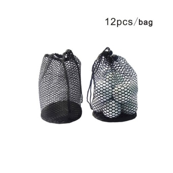 Harga Free shipping-Mesh Net Bag Golf 12/25/50 Ball Carrying Holder Drawstring Pouch W/Bottom - intl