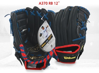 Harga Wilson MLB Professional Baseball A03 All Round Glove A370 RB 12 inches for Right Hand Pitchers + 1 x Baseball set