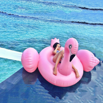 Harga Adult Floaties Flamingo Inflatable Swimming Seat Water Seat Lifebuoy