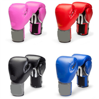 Men Women Adult Boxing Gloves 10OZ Muay Thai Glove Training Competition Red (48.0.6) - intl