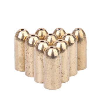 Harga BolehDeals 10Pcs Fishing Tackle Bullet Copper Fishing Accessories (Gold)