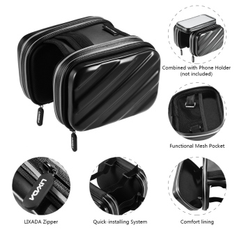 Harga Outdoor Cycling Hiking Riding Road Bikes MTB City Bike Bicycle Front Frame Bag Pack Pouch Black 2