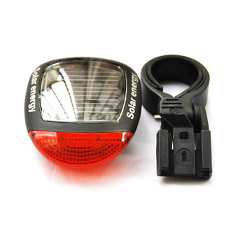 Harga Lucky Hot Sell New Bike Accessorie Solar Power LED Bicycle Bike Rear Tail Lamp Light Red Waterproof Flash Bikes Parts Led Lamps 1STL - intl