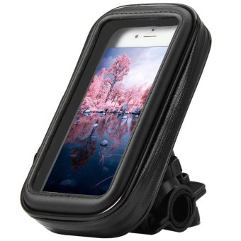 Harga Bicycle Motorcycle Handlebar Mount Holder Bag Waterproof Bike Cycling Pouch for Apple iPhone 6 5S 5C 5 Samsung Galaxy S4 Mini S3 Mini LG Optimus L1 II L3 II Sony Xperia E Dual etc. (EXPORT)