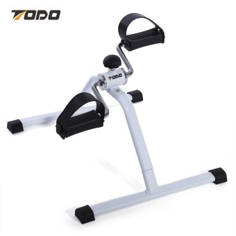 Harga Sports Outdoors Home Gyms Todo Indoor Mini Bicycle Pedal Leg Arm Exerciser(White And Black) - intl