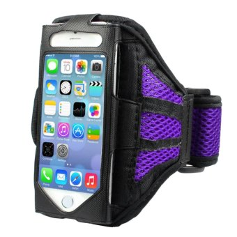 Harga 360WISH Outdoor Running Gym Mesh Arm Band Armband Case/Cover for Apple iPhone 5 (4-inch Version) - Purple - intl