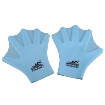 Swimming Webbed Gloves Adult Frog Finger Fin Blue