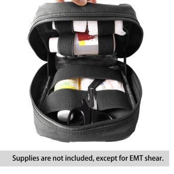 Harga leegoal Molle Tactical Empty Medical Kits First Aid Bag - Black
