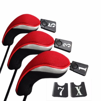 Harga 3PCs Golf Club Head Covers Red - intl