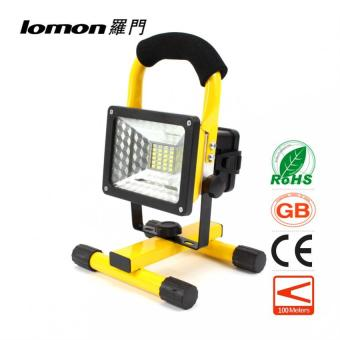 Harga 24 LED Flood Lights Portable Work Light Rechargeable Flood Spot Camping Hiking Lamp Outdoor Handle Emergency Flashlight 3 Modes Color Change - intl