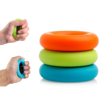 Harga 1pcs 7cm Different Strength Finger Hand Grip Muscle Power Training Rubber Ring Exerciser 30 40 50 lb