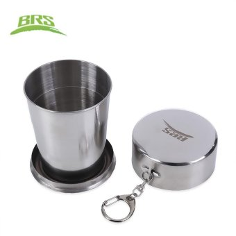 BRS 60ML 140ML 250ML Aluminum Alloy Collapsible Cup (BRS - 36 140ML) (Silver) - intl