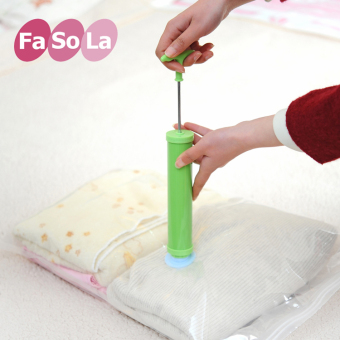 Harga Fa So la vacuum compression bags hand pump vacuum storage bag manual air pump suction tube universal