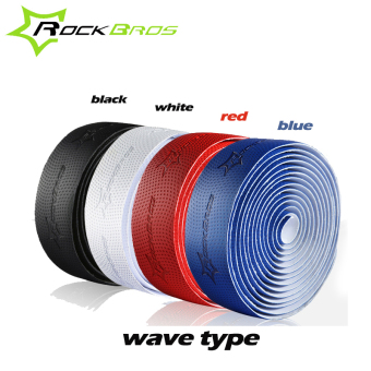 Harga RockBros Professional Road Cycling Handlebar Tape Wave Type 4 Colors Anti-slip Anti-sweat S.R.EVA Road Bike Bicycle Handlebar Tape Wrap