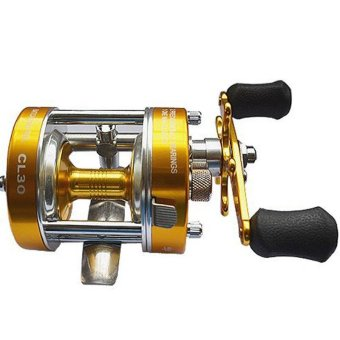 Baitcaster Reel with Oversized Handle Golden Right Hand All-metal double brake - intl