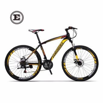 Harga Eurobike X1 Premium Mountain Bike | Best 26 inch Mountain Bicycle with 21-speed, Front Suspension & Disc Brakes