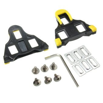 Harga Cycling Self-locking Pedal Road Bike Bicycle Cleat For Shimano SM-SH11 SPD-SL Yellow&Black - intl