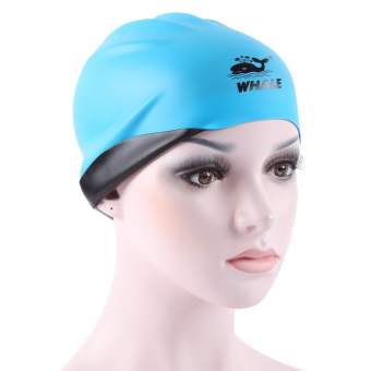 whale Adult Silicone Swim Cap Lightweight Elastic Multi Color Swimming Hat