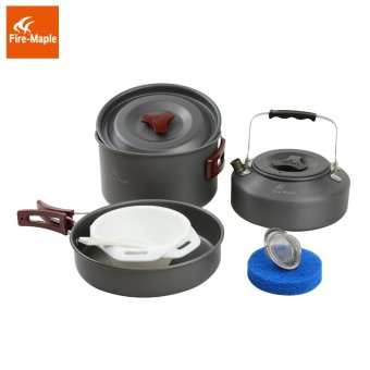 Harga Fire Maple FMC-204 Camping Pot Outdoor Cutlery with Kettle Panelas Camp Cooking Cookware Picnic 2-3 Persons - intl