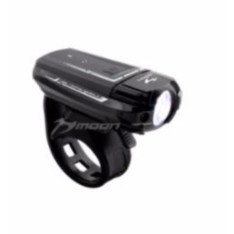 Harga Moon Meteor 250 Lumens USB Rechargeable White Bicycle Bike Light (Black)