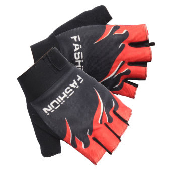 Harga Outdoor Sports Cycling Bike Bicycle Motorcycle Gel Half Finger Fingerless Gloves Good friction,Reduces hand discomfort and calluses Red - intl