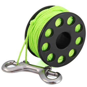 Harga EZDIVE GL30 Scuba Diving Finger Spool 30m Spider with Double Ended Snap (Green)