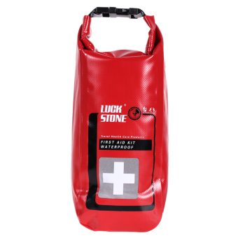 Harga Waterproof First Aid Kit Bag Red