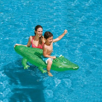 Harga Children Floaties Crocodile Floating Row ring Inflatable Swimming Seat Water Seat Lifebuoy