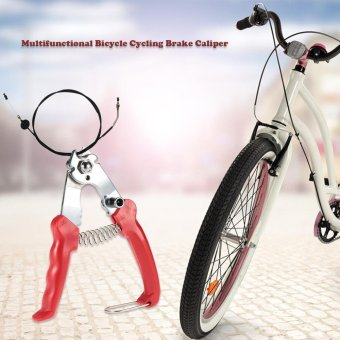 Multifunctional Bicycle Cycling Brake Caliper Cable Wire Nippers Wire Cutter Bike Bicycle Repairing Tool - intl