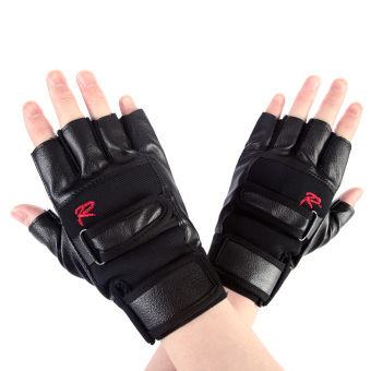 Harga Pro Weight Lifting Gym Exercise Sport Fitness Sports Leather Gloves