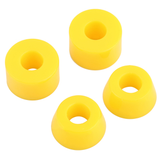 Harga OH 4pcs 55D Hard PU Bushings Shockproof For Skateboard Parts Outdoor Sports Yellow