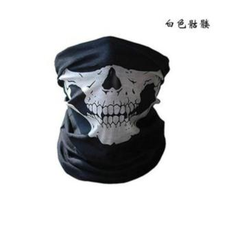 Harga Skeleton Ghost Skull Face Mask Biker Helmet Balaclava Dust Shield(White) - intl