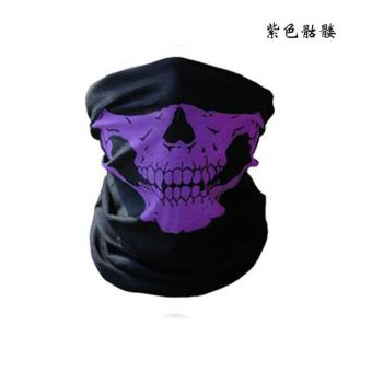Harga Skeleton Ghost Skull Face Mask Biker Helmet Balaclava Dust Shield(Purple) - intl